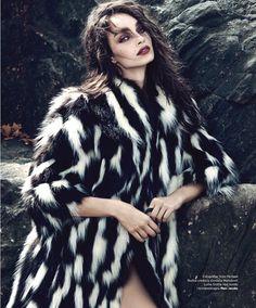 nomadska bajka: luma grothe by yossi michaeli for harper's bazaar serbia january 2016 - Marc Jacobs Fall 2015 Fur Fashion, Love Fashion, Fashion Models, Fashion Designers, Spring Fashion, Luma Grothe, White Fur Coat, Luxury Girl, Fabulous Furs