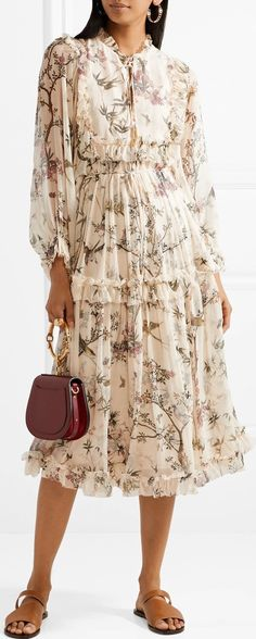Floral Maples Frill Dress