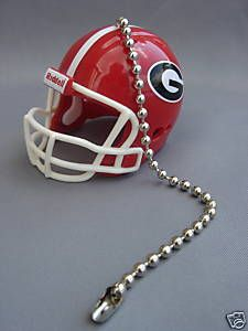 Ceiling Fan Pulls Light Chain   Light Ceiling Fan Pull Chain Georgia Bulldogs Football Helmet   eBay