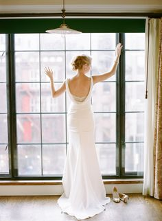 Photography: Rebecca Yale Portraits - www.rebeccayaleportraits.com Read More: http://www.stylemepretty.com/2015/02/20/classic-nyc-wedding-at-the-bowery-hotel/