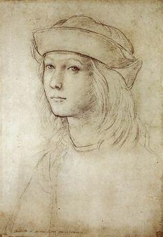 Raffaello Sanzio, Autoritratto/Self-portrait, circa 1499, black chalk, Ashmolean Museum, Oxford
