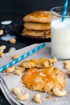 Herzfutter | Food-Blog : Cashew Cookies With Salted Caramel