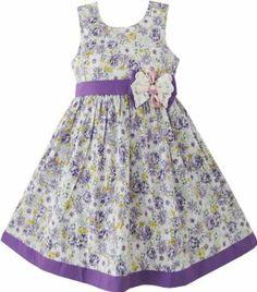 Girls Dress Butterfly Purple Wedding Sundress Child Clothes Size 2-10