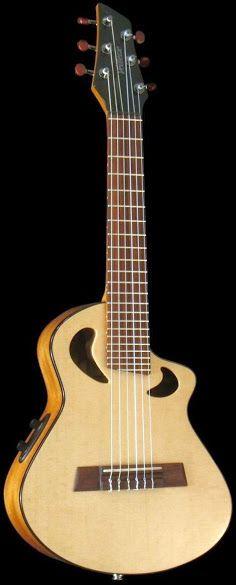 Veillette Merlin custom Guitalele 6 string guitar ukulele