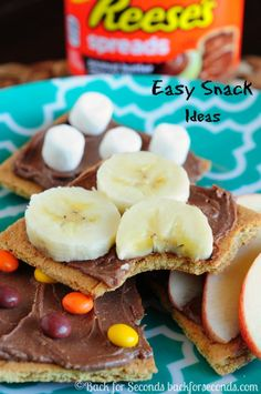 Easy No Bake Snack Ideas  - great for after school snacks!  #reeses #AnySnackPerfect