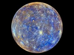 Colorful view of Mercury/ MESSENGER's primary mission. @Cristina Rigutto