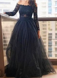 Long Sleeve Lace Charming prom dress, sexy prom dress,Charming prom dress, long prom dress,prom dresses, elegant prom dress, prom dress