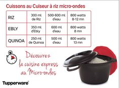 Cuissons au cuiseur à riz micro-ondes Tupperware Micro Onde, Flan, Rice Cooker, Mugs, Cooking, Desserts, Micro Minute, Bordeaux, Gluten
