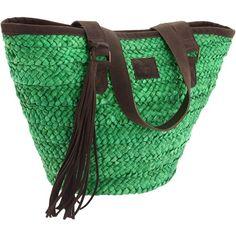 O'Neill Evita Straw Bag ❤ liked on Polyvore