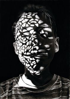 Dylan Andrews' Charcoal Portraits Play with Shadows | Hi-Fructose Magazine
