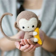 New Amigurumi Doll for This Year! Beauty HandiCraft Pattern Ideas Part amigurumi doll patterns; Crochet Geek, Crochet Doll Pattern, Crochet Patterns Amigurumi, Amigurumi Doll, Crochet Baby, Free Crochet, Monkey Pattern, Crochet Patron, Cute Monkey