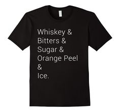 Amazon.com: Old Fashioned Recipe T-Shirt - Whiskey Tee: Clothing