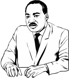 martin luther king coloring page 2