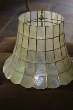 Capiz shell lamps - 10 methods to give your home a royal look! Shell Lamp, Living Room Furniture Layout, Royal Look, Lamp Shades, Ceiling Fixtures, Floor Lamp, Pendant Lighting, Decor Styles, Shells