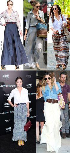 Oi pessoal! Como foram de feriado? Hoje vamos falar das saias longas que são o must há muitas temporadas e que dão um ar muito elegante e n...