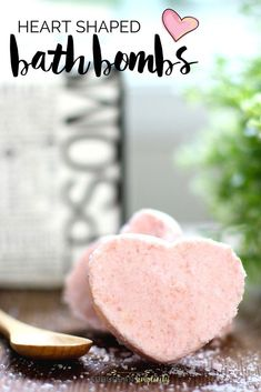 This easy Heart Shaped Bath Bombs recipe make the perfect pampering DIY. It shows you how to make them step-by-step. Gift them for Valentine's Day or just keep them for yourself this bath bomb is so relaxing and luxurious! Wine Bottle Crafts, Mason Jar Crafts, Mason Jar Diy, Diy Hanging Shelves, Floating Shelves Diy, Galaxy Bath Bombs, Bombe Recipe, Bomb Making, Bath Bomb Recipes