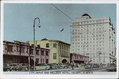Postcard 5345: Gowen Sutton Co. Ltd, C.P.R. depot and Palliser Hotel, Calgary, Alberta. (c1932)