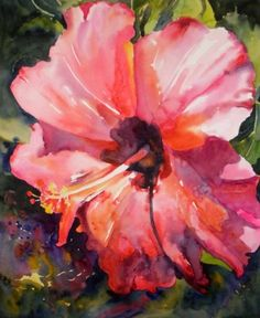 Heavenly Hibiscus, original painting by artist Kay Smith | DailyPainters.com