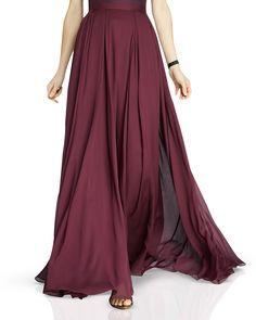 HALSTON HERITAGE Flowing Georgette Maxi Skirt | Bloomingdale's