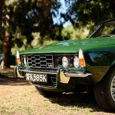Blending in. Rover P6 3500.
