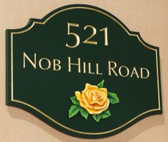 Nob Hill road House Number Sign | Danthonia Designs