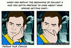 To myself: Act surprised. You can do this  via Fallout Hub on Facebook  fallout fallout comics fallout 4 fallout hub vault 111