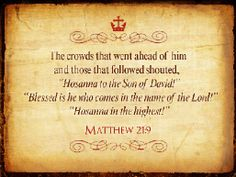 Matthew 21:9.