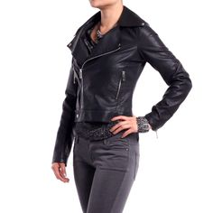 Black Motorcycle Jacket    Biker chic... I love it!!