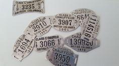 1960s 70s Chauffeur badges.