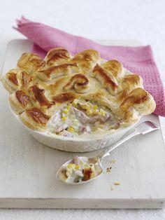 Bacon, Leek, and Sweetcorn Pie