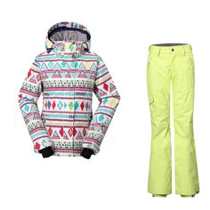 (250.00$)  Buy here - http://aik64.worlditems.win/all/product.php?id=32797463798 - Thicken Pants Waterproof Windproof Breathable Female Ski Suit Gsou Snow Women's Ski Suits Winter Thermal Warmth Snowboard Jacket