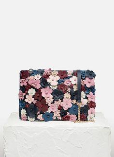 Сумка-конверт с цветами Uterqüe