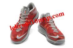 Nike LeBron X Low University Red Metallic Silver New Basketball Shoes e8ed20bc77f1