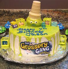 Grossery Gang Cake, Birthday Cake, Drip cake, layer cake