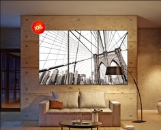 Manhattan bridge wall art print prints on canvas by CanvasConquest