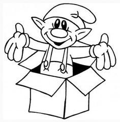 elf in a box santa coloring pages kids printable coloring pages christmas coloring pages