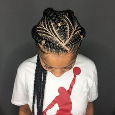 60 Easy and Showy Protective Hairstyles for Natural Hair Thick And Thin Goddess Braids with Beads Box Braids Hairstyles, African Hairstyles, Girl Hairstyles, Black Hairstyles, Hairstyles 2018, Fashion Hairstyles, Hairstyle Ideas, Kids Hairstyle, Girl Haircuts