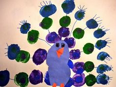 Peacock  paint project  Artsonia Art Museum :: Artwork by Peyton943