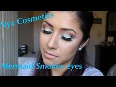 NYX Cosmetics Mermaid Smokey Eye Tutorial - YouTube
