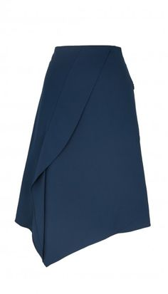 Team the Tibi Agathe Asymmetrical Skirt with a coordinating crop top for a dramatic on-trend look.