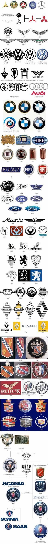 Evolution of auto logos Car Badges, Car Logos, Auto Logos, Car Brands Logos, Diavel Ducati, Evolution, All Cars, Car Manufacturers, Amazing Cars