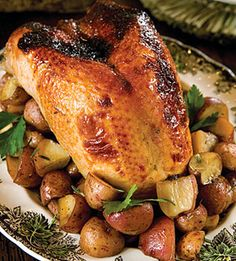 Citrus-Glazed Turkey Breast with Roasted Red Potatoes