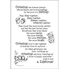 Cousins Scrapbook Stickers | Quotes & Stickers for Scrapbooking - Greeting Cards & Gifts