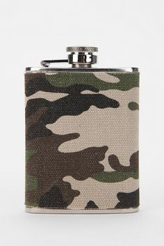 $19  Camo Fabric Wrapped Flask