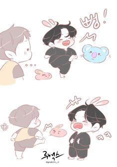 Jungkook Fanart, Kpop Fanart, Bts Chibi, Bts Aesthetic Pictures, Bts Drawings, Fan Art, Bts Fans, I Love Bts, Bts Korea