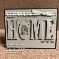 Another this time for realtors congratulating their clients on their new home. I really like how this card turned out😃 so I hope they like to, too! Welcome Home Cards, New Home Cards, House Of Cards, New Home Gifts, Cool Cards, Diy Cards, Craft Cards, Housewarming Card, Happy New Home