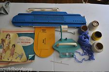 KENNER KNIT-O-MATIC Vintage TOY Knitting Machine 1966 w/ Accessories