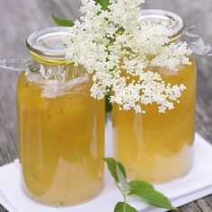 Zitronengelee mit Holunderblüten Rezept   Küchengötter