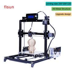 알루미늄 금속 3D 프린터 높은 정밀 대형 인쇄 크기 Prusa i3 3d-Printer 키트 뜨거운 침대 두 롤 필라멘트 Sd 카드