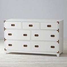 Campaign Wide Dresser (White)  | The Land of Nod